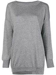 Snobby Sheep Boat Neck Jumper Grey