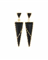 Lana Frosted 14K Black Onyx Drop Earrings