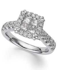 Macy's Princess Treasures Princess Cut Diamond Engagement Ring In 14K White Gold 1 3 4 Ct. T.W.