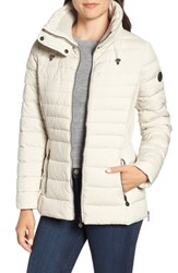 Bernardo Micro Touch Water Resistant Quilted Jacket Alabaster