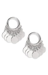 Argentovivo Women's Argento Vivo Vermeil Frontal Drop Earrings Silver