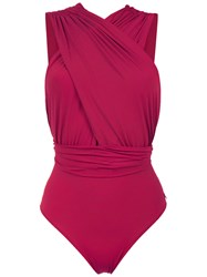 Brigitte Ruched Talita Swimsuit Red