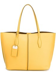 Tod's Shopper Tote Yellow Orange