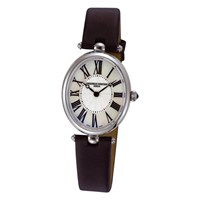 Frederique Constant Women's Classic Art Deco Oval Watch Black Silver