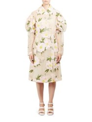 Simone Rocha Double Breasted Floral Jacket Pink Nude
