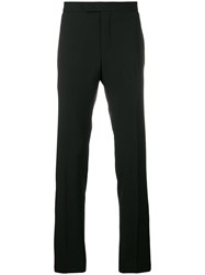 Karl Lagerfeld Contrast Piped Trim Trousers Black
