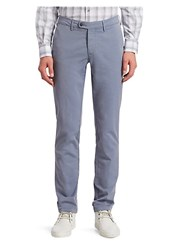 Saks Fifth Avenue Collection Buttoned Chino Pants Grey Beige