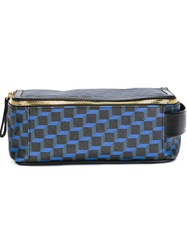 Pierre Hardy Cube Print Wash Bag Blue