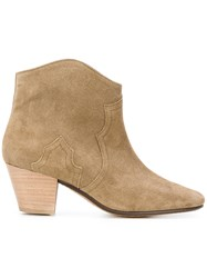 Isabel Marant Dicker Boots Women Calf Leather Leather Calf Suede 37.5 Nude Neutrals