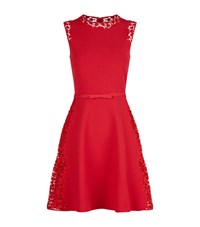 Giambattista Valli Lace Detail Skater Dress Female Red