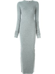 Extreme Cashmere 'No6' Base Long Dress Grey