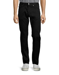 Hugo Boss Flat Front Wool Dress Pants Black