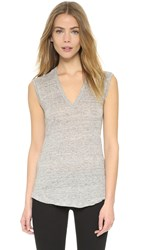 J Brand Rosemead Tank Heather Grey