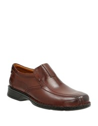 Clarks Escalade Step Loafers Brown