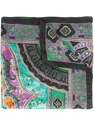 Etro Abstract Print Scarf Black