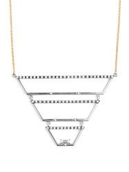 Susan Foster Diamond White Gold And Yellow Gold Necklace