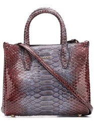 Lanvin Nano Tote Bag Red