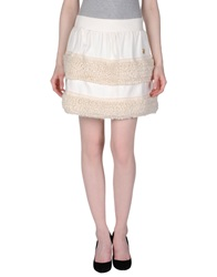 Atelier Fixdesign Mini Skirts Ivory