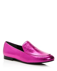 Kenneth Cole Westley Metallic Leather Loafers Magenta