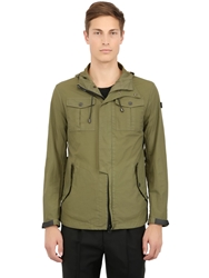 Ai Riders On The Storm Washed Rubberized Nylon Field Jacket Olive Green