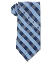 Eagles Wings Tennessee Titans Checked Tie Blue Lightblue