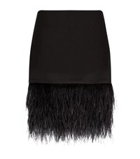 Polo Ralph Lauren Ostrich Feather Trimmed Skirt Female Black