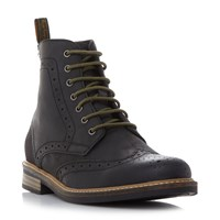 Barbour Belsay Wingtip Brogue Boots Black