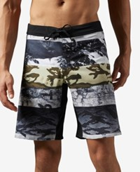Reebok Men's Camo Print Speedwick Training Shorts Coal