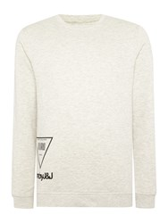 Jack And Jones Graphic Crew Neck Sweatshirt Off White