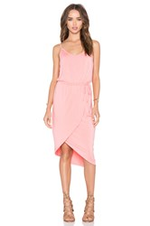 Michael Stars Cami Wrap Dress Coral