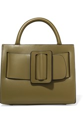 Boyy Bobby 23 Small Buckled Leather Tote Army Green