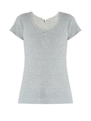 Skin Short Sleeved Cotton Pyjama Top Grey