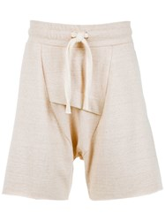 Osklen Dropped Crotch Shorts Neutrals