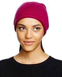 C By Bloomingdale's Cashmere Angelina Slouch Hat Mulberry
