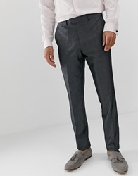 French Connection Prince Of Wales Check Slim Fit Suit Trousers Grey