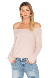 Inhabit Parisienne Off Shoulder Sweater Blush