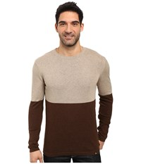 Prana Color Block Sweater Brown Men's Sweater