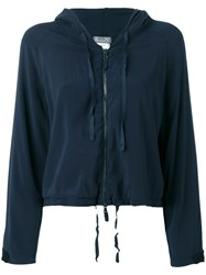 Kristensen Du Nord Cropped Hooded Jacket Blue