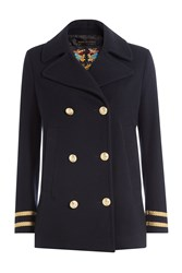 Seafarer Pea Coat Blue