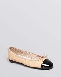 Paul Mayer Ballet Flats Best Quilted Black Beige