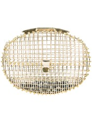 Anndra Neen Oval Cage Clutch Women Brass One Size Metallic