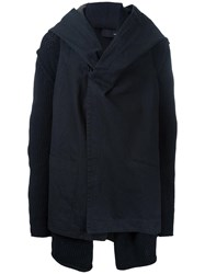 Isabel Benenato Oversized Hooded Jacket Black