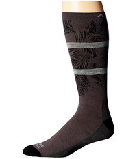 Wigwam Makua Valley Pro Charcoal Men's Crew Cut Socks Shoes Gray