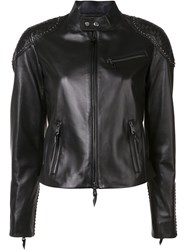 Ralph Lauren Collection Studded Shoulders Jacket Black