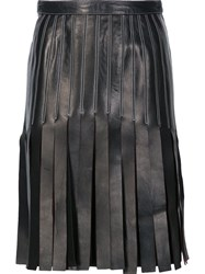 Thierry Mugler Strappy A Line Skirt Black