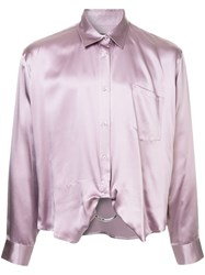 Martine Rose Ring Detail Fitted Shirt Purple