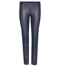 Stouls Jacky Perforated Leather Leggings Blue