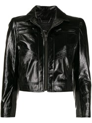 Givenchy Fitted Leather Jacket Black