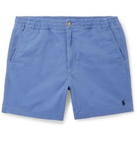 Polo Ralph Lauren Washed Cotton Blend Twill Shorts Blue
