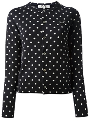 Comme Des Garcons Play Polka Dot Cardigan Blue